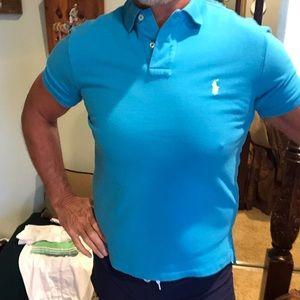 Polo Ralph Lauren Acqua Blue Polo Custom Fit Sz M